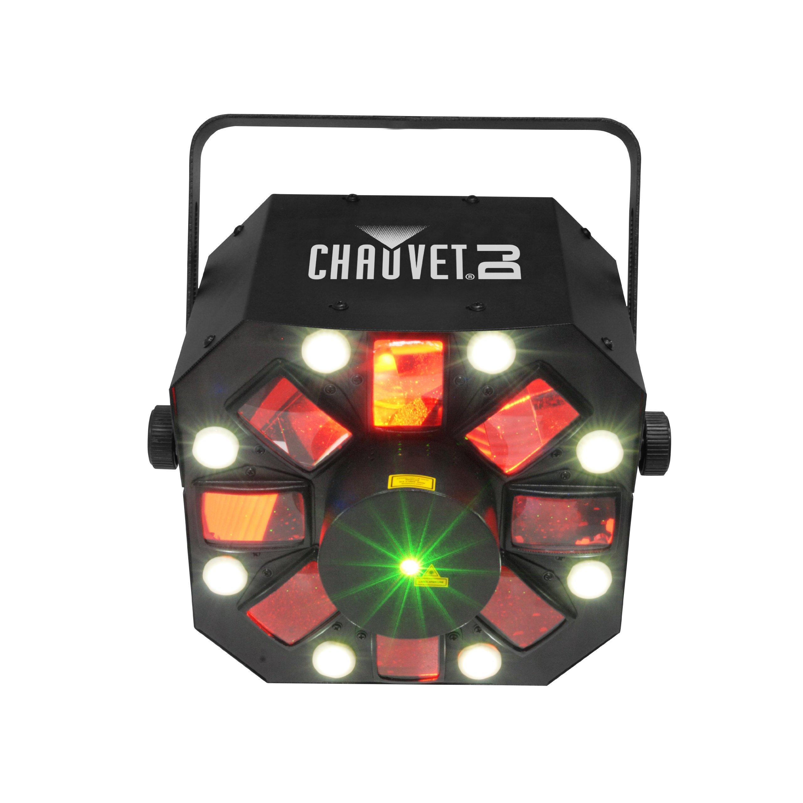 CHAUVET DJ Swarm 5FX 3-in-1 LED Strobe, Laser, Derby Effect Light | Laser & Strobe Effects