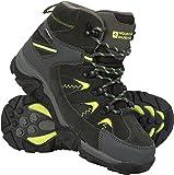 Mountain Warehouse Rapid Kids Waterproof Boots - Durable Hiking Shoes, Breathable, Ladies Suede & Mesh Upper Footwear, Heel & Toe Bumpers - Ideal for Walking & Trekking