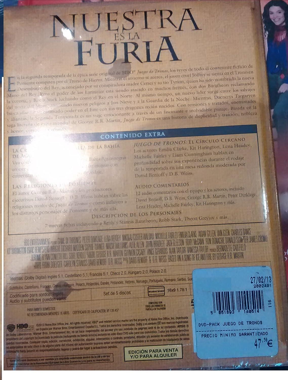 Juego De Tronos - 2ª Temporada DVD SEGUNDA TEMPORADA COMPLETA: Amazon.es: Cine y Series TV