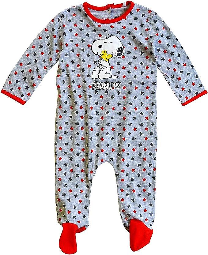 Baby Jungen Snoopy Peanuts Stars Overall Schlafanzug Strampler Gr/ö/ßen Von 3 Sich 24 Monate