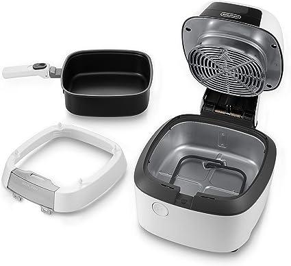 DeLonghi IdealFry Freidora de aire caliente profesional, 1400 W, Negro, Blanco: Amazon.es: Hogar