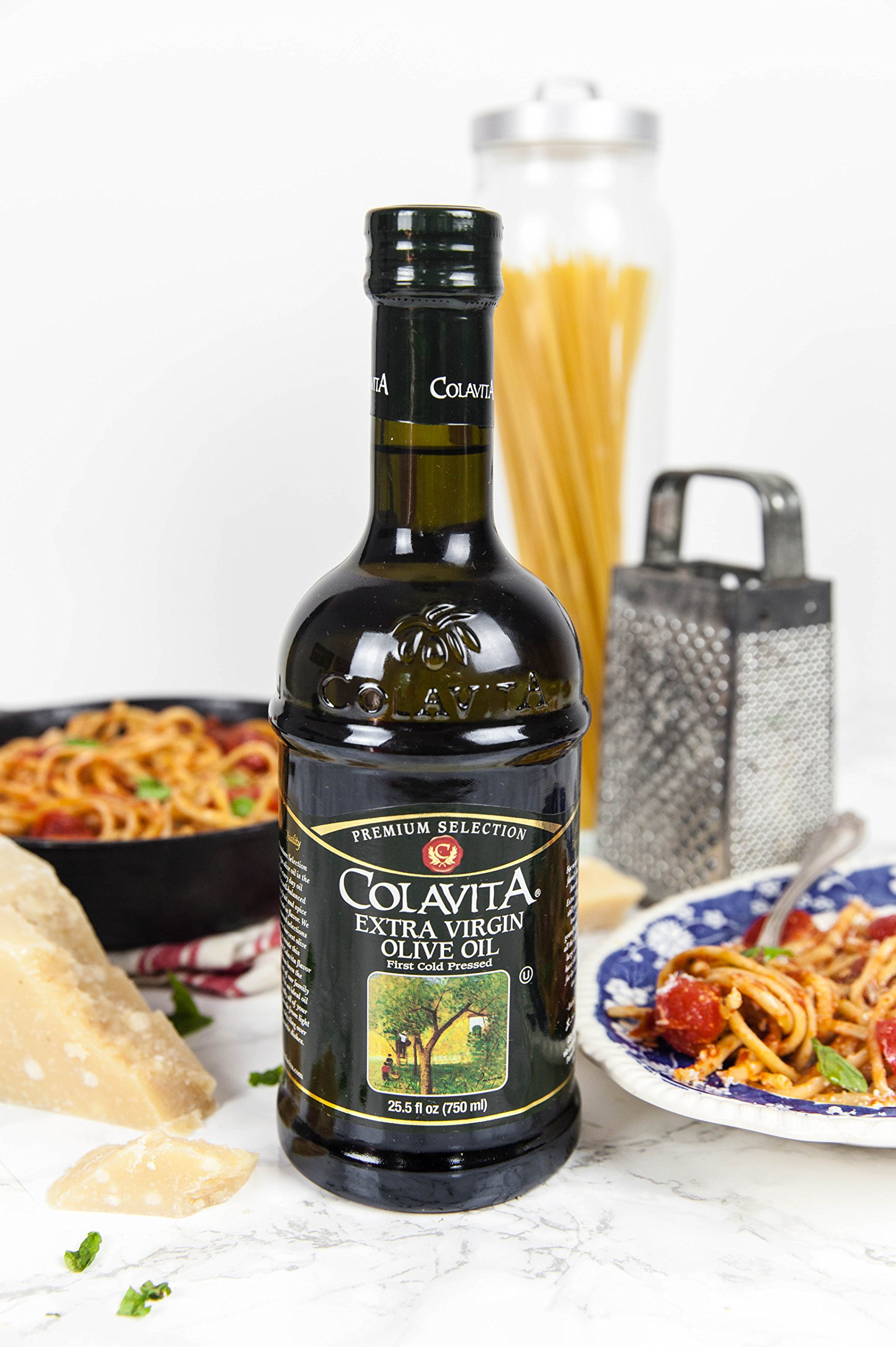 Colavita Extra Virgin Olive Oil, First Cold Pressed, 25.5 fl. oz., Glass Bottle by Colavita (Image #10)