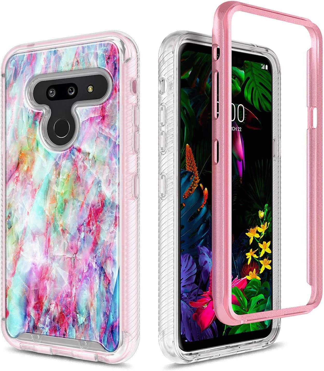 Full-Body Protective Rugged Bumper Cover with Built-in Screen Protector Ultra Thin Shockproof Impact Resist Durable Phone Case -Fantasy 2019 Release E-Began Case for LG G8 ThinQ