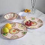 16pcs Melamine Dinnerware Set - Outdoor and Indoor