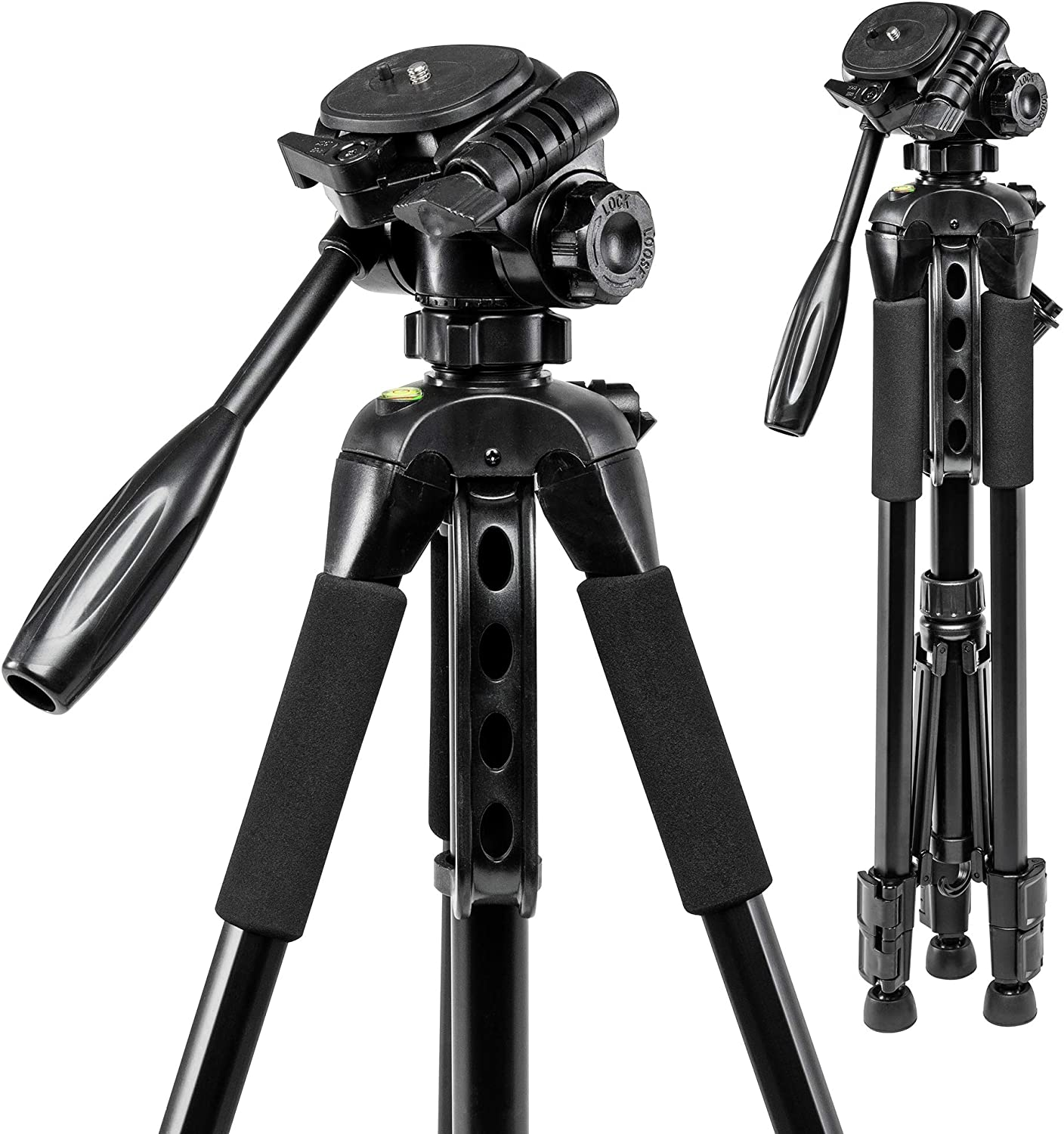 Polaroid 57-Inch Photo/Video Tripod with Deluxe Tripod Carrying Case