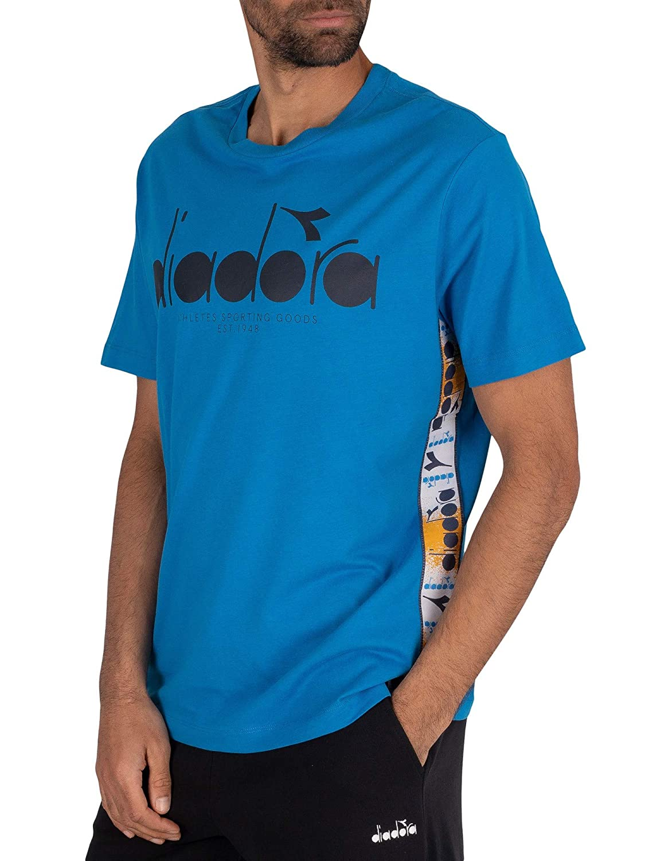Diadora de los Hombres 5Palle Offside T-Shirt, Azul, XL: Amazon.es ...