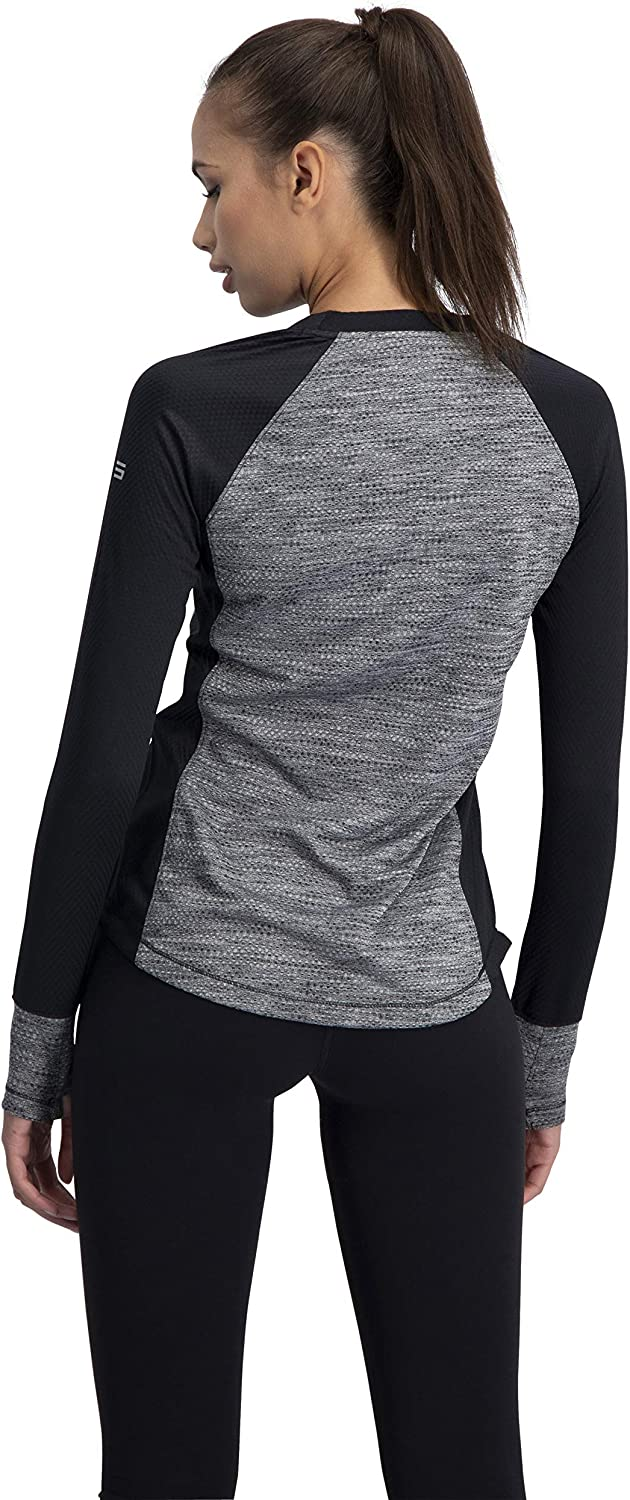 Thermal Running Shirt Dry Fit w//Thumbholes Long Sleeve Compression Workout Tops for Women