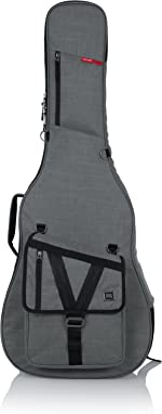 Gator Cases Transit Series Acoustic Guitar Gig Bag; Grey Exterior (GT-ACOUSTIC-GRY)