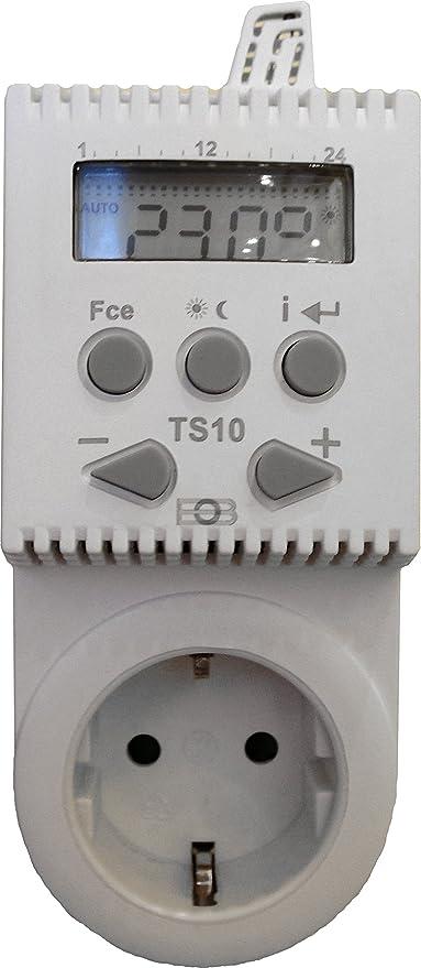 Elektrobock - Enchufe y termosestado TS10 para calefacción por Infrarrojos (programable)