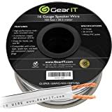 16AWG Speaker Wire, GearIT Pro Series 16 Gauge Speaker Wire Cable (100 Feet / 30.48 Meters) Great Use for Home Theater Speake