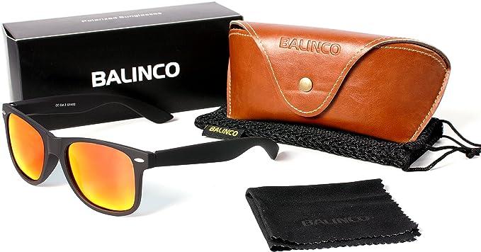 Hochwertige Polarisierte Nerd Rubber Sonnenbrille im Set (24 Modelle) Retro Vintage Unisex Brille mit Federscharnier (White-Red Mirror) H8XSWg