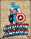 Captain America Panels Tin Sign 16 x 13in