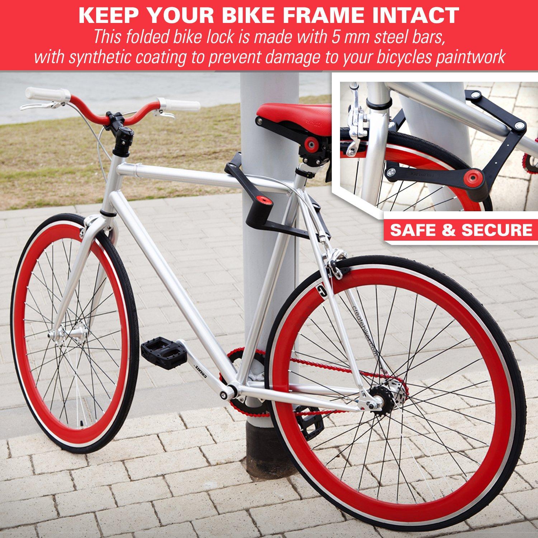 FOLDYLOCK BIKE LOCK Cadena de bicicleta para trabajo pesado (estuche incluido) Se despliega hasta 35