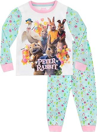 Girls Kids Peter Rabbit Pyjamas PJs Nightwear 18 months to 5 Years Pink Long
