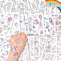 ACWOO Eenhoorn Tijdelijke Tattoos, 30 Vellen Eenhoorn Zeemeermin Tijdelijke Tattoo Stickers voor Kinderen, 350+ Patronen…