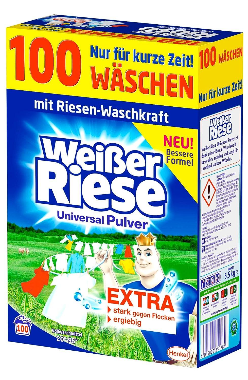 [amazon.de] Weißer Riese Universal Pulver Waschmittel 100 WL um 10,07€