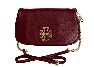 16947fe531c5 Amazon.com  Tory Burch Britten Clutch Leather Crossbody Bag Tote ...