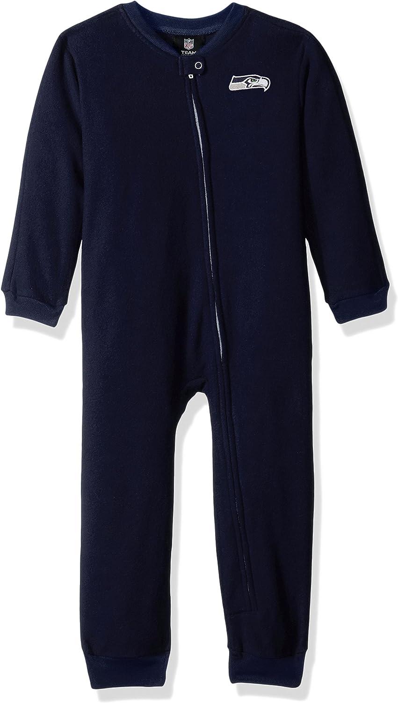 NFL Toddler Color Block Blanket Sleeper-Dark Navy-4T Seattle Seahawks