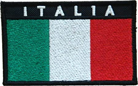 Parche militar de la bandera italiana, con velcro: Amazon.es: Hogar