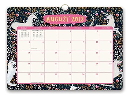 Orange Circle Studio 2019 Deluxe Wall Calendar, August 2018 - December  2019, Stay Magical Unicorns