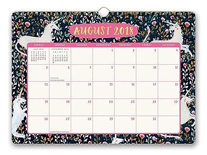 Calendario 2019 Agosto A Diciembre.Naranja Circulo Studio 2019 Deluxe Calendario De Pared