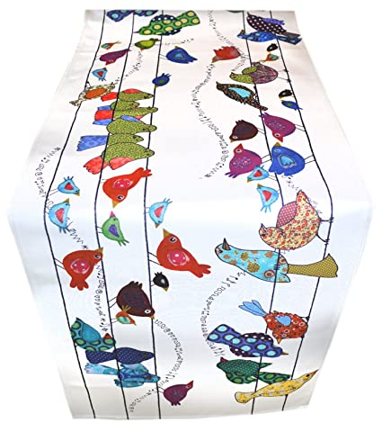 Incroyable MollyMac Birds Table Runner Colorful Bird Home Decor, Bohemian Style.  Perfect Thank You Gift