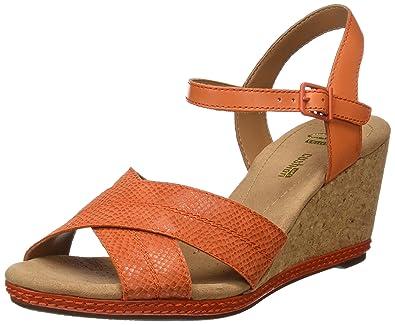 6fd24e08cdb Clarks Women s s Helio Latitude Wedge Heels Sandals  Amazon.co.uk ...