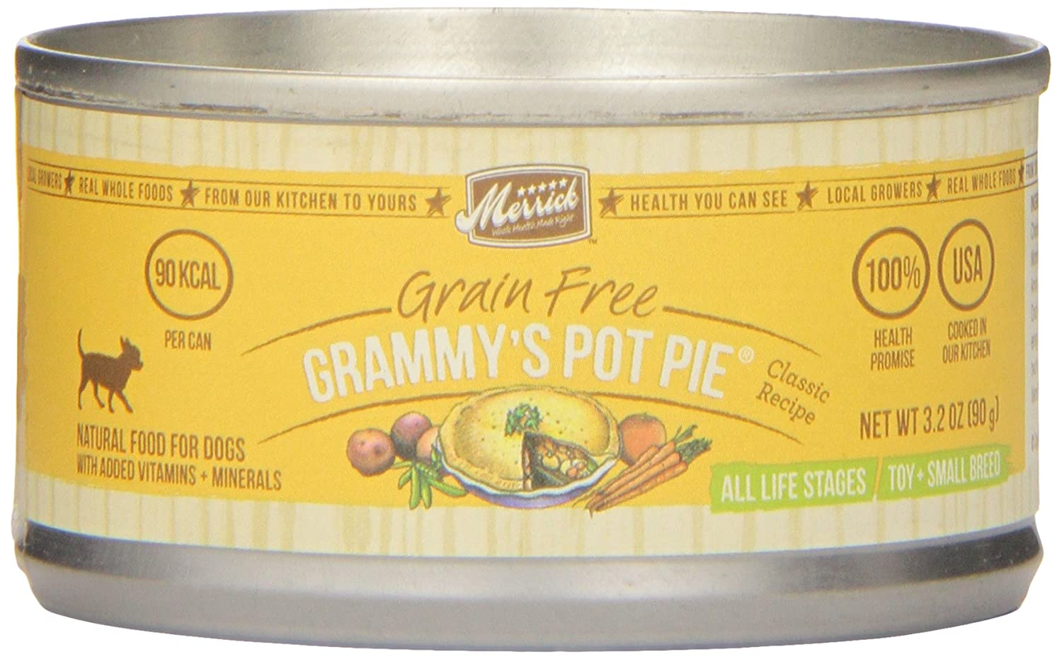 Classic Small Breed Grammy's Pot Pie Canned Dog Food (3.2-oz, case of 24)