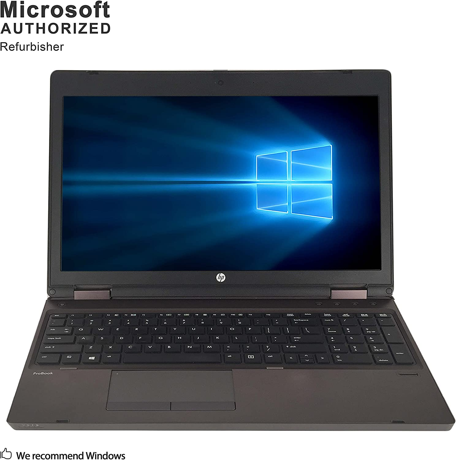 HP ProBook 6570B 15.6 Inch Business PC, Intel Core i5-3210M up to 3.1GHz, 8G DDR3, 320G, WiFi, VGA, DP, Windows 10 64 Bit Multi-Language Supports English/French/Spanish(Renewed)