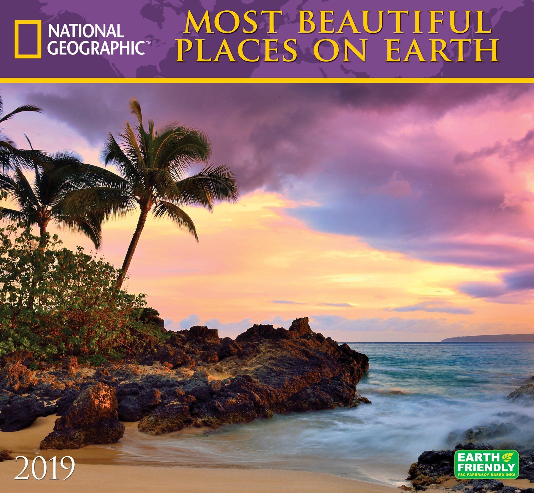 national geographic most beautiful places on earth 2019 wall calendar
