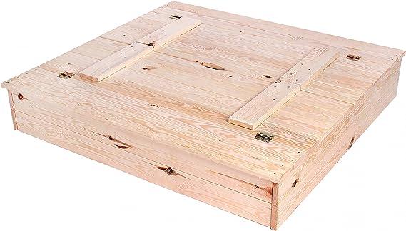 Kagu Arenero Para Niños Cajón De Arena De Madera De Abeto 2 Bancos 113 x 105 Peso 20 kg: Amazon.es: Juguetes y juegos