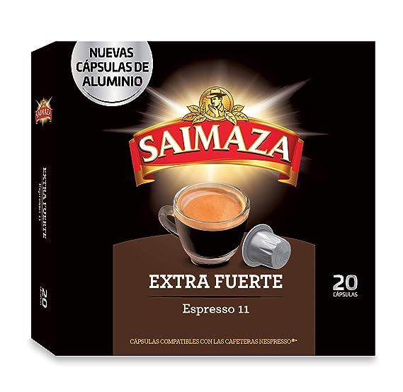 Café Saimaza Espresso Extra Fuerte 20 cápsulas - [Pack de 10]