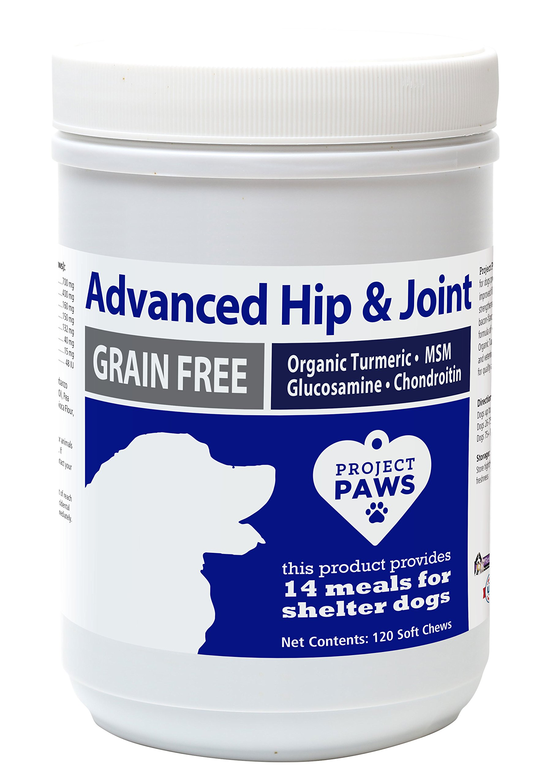 Project Paws Hip and Joint Supplement for Dogs - Advanced Soft Chew Supplements