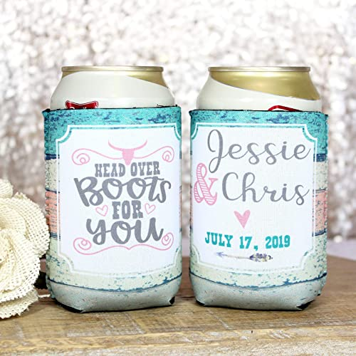 Personalized Wedding Can Coolers Mr and Mrs Initial Multiple Colors//Quantities Available Personalized Wedding Favors Neoprene Can Coolers