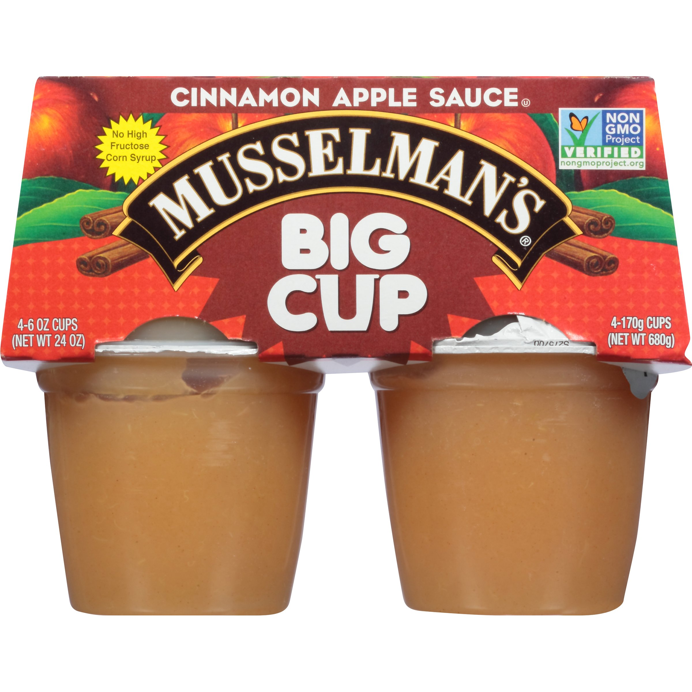 Musselman's Big Cup Cinnamon Apple Sauce, 6 Ounce (Pack of 12) by Musselmans (Image #4)