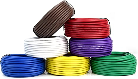 7 way electrical wire diagram amazon com 7 way trailer wire light cable for harness 50 ft each  amazon com 7 way trailer wire light