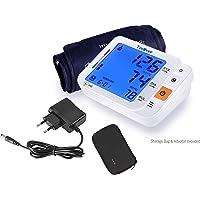 Tediver Blutdruckmessgerät Oberarm Testsieger 2017 - Große Komfortmanschette - Automatisches Digital-Blutdruckmessgerät Kit T3 - Erweiterte Überwachungsgenauigkeit, EU-Adapter