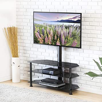 Amazon Com Fitueyes Swivel Floor Tv Stand With Mount Height