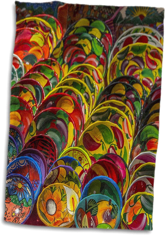 3dRose Danita Delimont - Decor - Local pottery wares for sale at historic Mayan Chichen Itza, Mexico. - 15x22 Hand Towel (twl_314383_1)