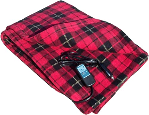 Car Cozy 2-12-Volt Heated Travel Blanket