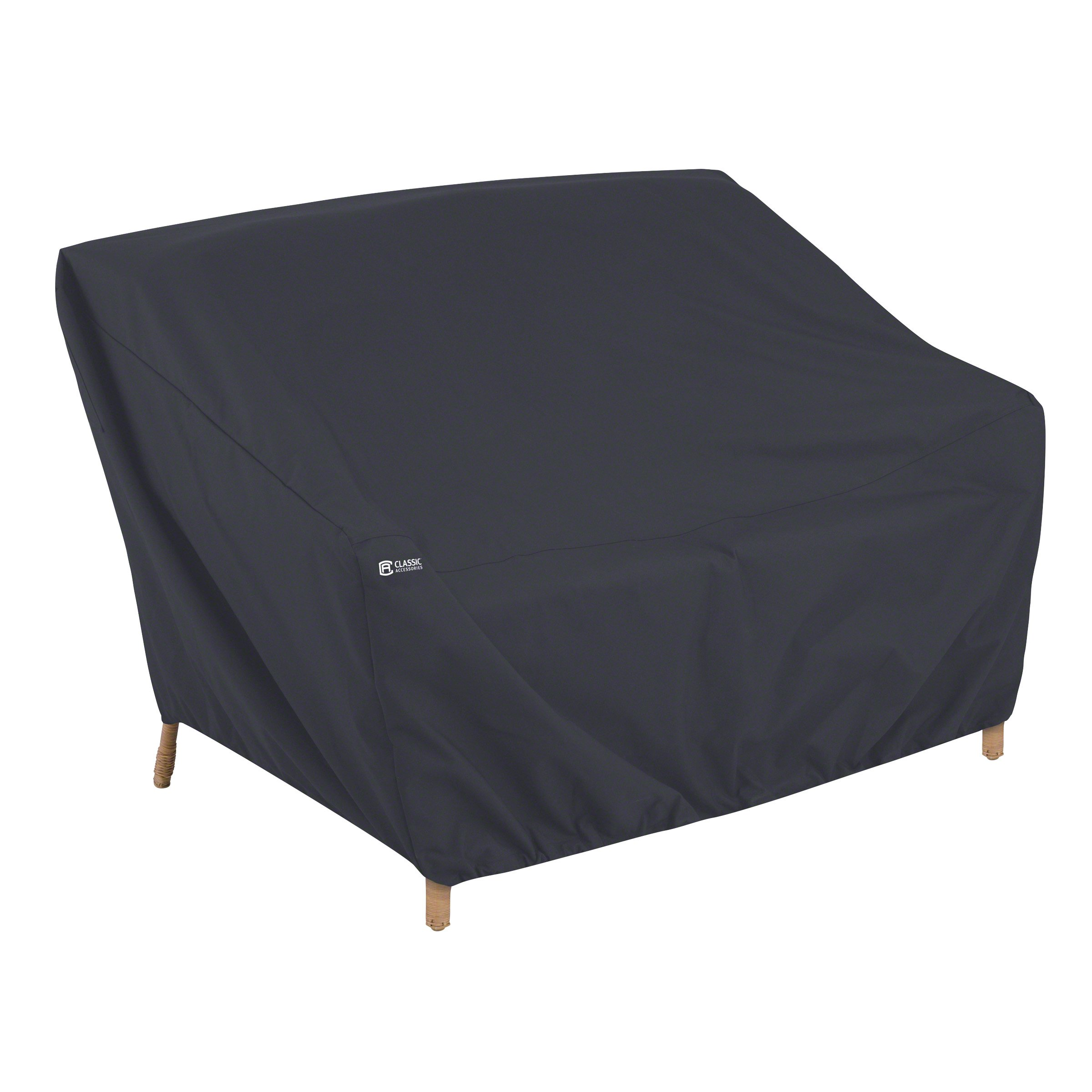 Classic Accessories Patio Loveseat/Bench/Sofa Cover, Black, Small by Classic Accessories
