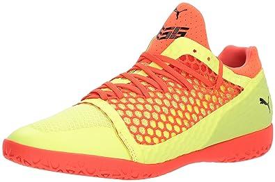052180ad761 PUMA Men s 365 Netfit CT Soccer Shoe Fizzy Yellow-red Blast Black