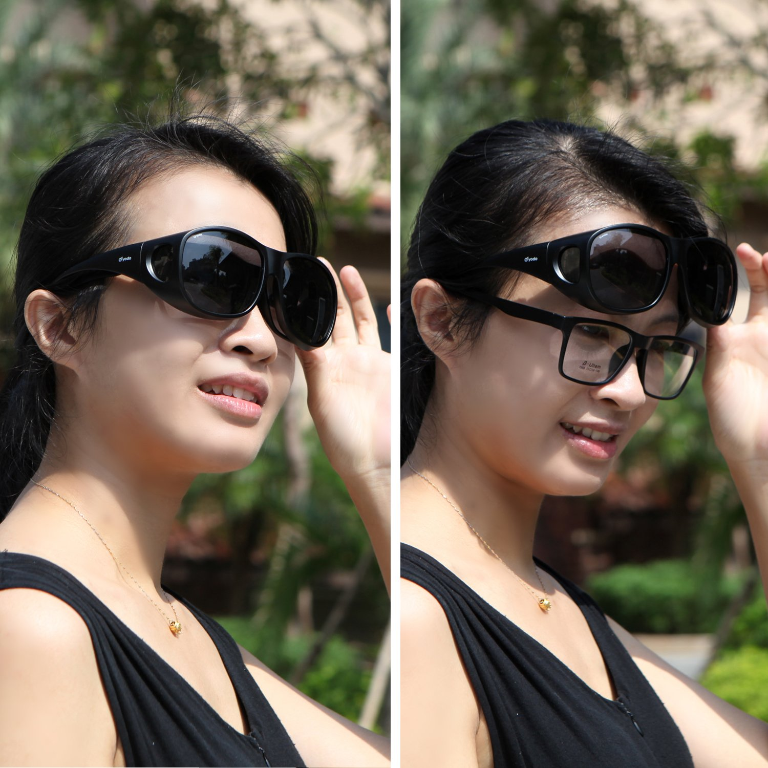 1a206b4977 Amazon.com  Yodo Fit Over Glasses Sunglasses with Polarized Lenses for Men  and Women