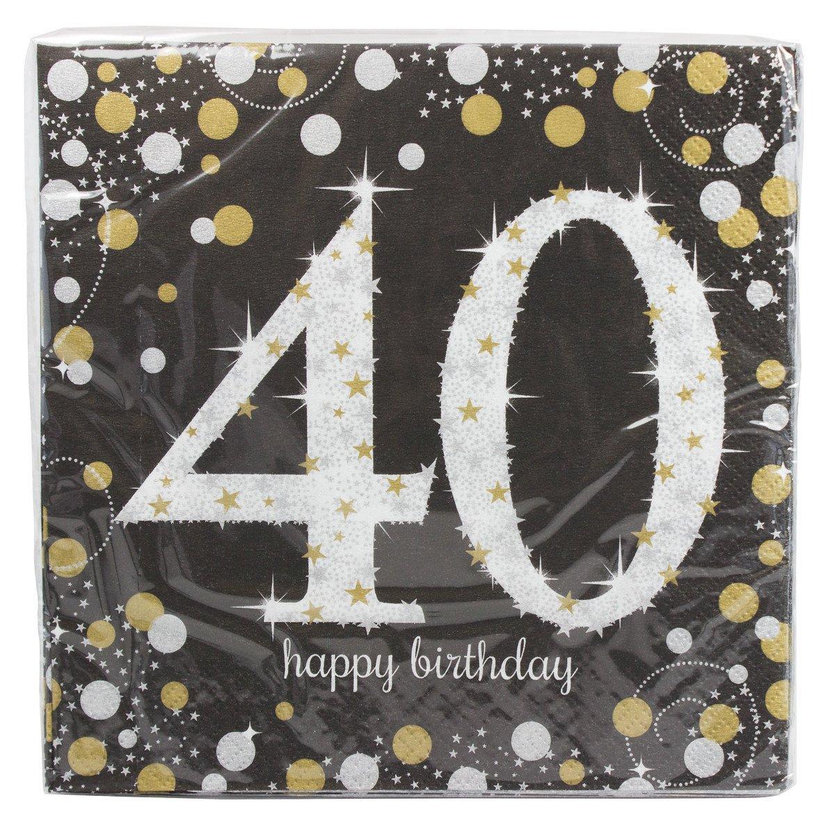 Sparkling Celebration 40 Beverage Paper Napkins