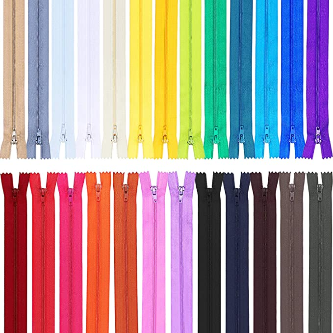 MEABEN 20 Pieces 20 CM//7.87 Inch Closed End Nylon Coil Zipper Bulk Fancy Sewing Lace Separating Zippers for Tailor Sewing Crafts Purses Bags Color Random