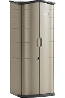 Amazon com : Rubbermaid Plastic Vertical Outdoor Storage