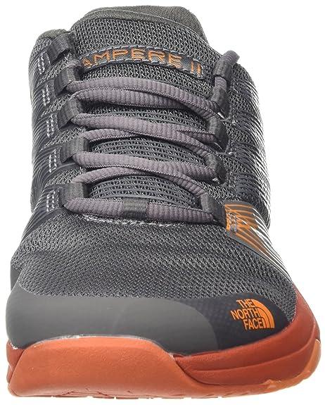 Amazon.com   The North Face Mens Litewave Ampere II Dark Grey/Orange Size 11.5   Road Running
