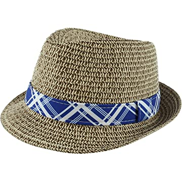 63a10659d Amazon.com: Jeanne Simmons Kids' Straw Pleated Band Easter Fedora ...