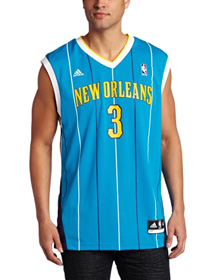 cd00b81d5a4 Amazon.com   New Orleans Hornets Chris Paul Men s Teal NBA Replica ...