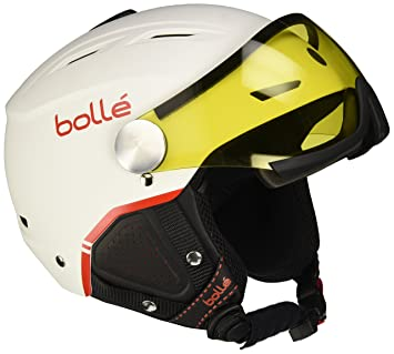 Bollé Backline Visor Premium Casco, Unisex, Blanco/Rojo (Soft White/Red